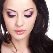 Woman with false eyelashes — Stock Photo