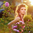 Woman in garden - Foto Stock
