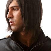 Profile of attractive man — Stock Photo