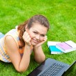Girl on grass — Stock Photo #3594334