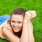 Pretty woman on grass — Stock Photo #3594359