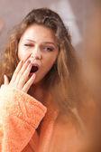 Woman waking up — Stock Photo