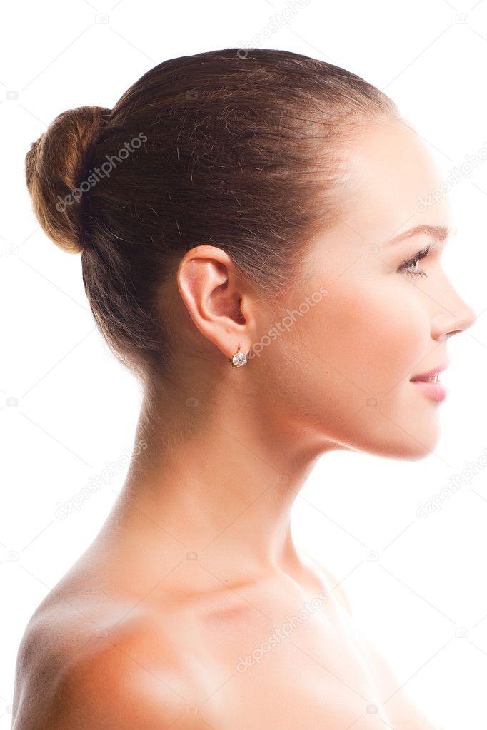 красивый женский профиль картинки