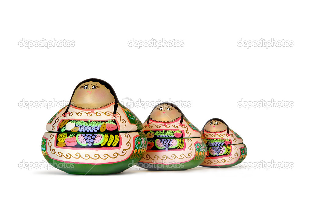 Three Colombian dolls on a white background — Stock Photo #3410337