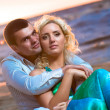 Beautiful young couple in love - Foto Stock