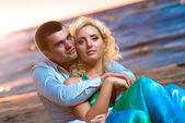 Beautiful young couple in love — Stock fotografie
