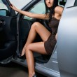 Stock Photo: Woman in a car