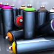 Graffiti cans — Stock Photo