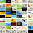 Business cards - Imagens vectoriais em stock