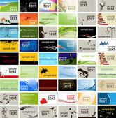 визитные карточки — Cтоковый вектор