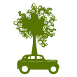 Ecology car - Stockvectorbeeld