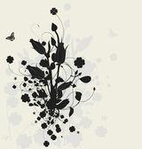Gölge ile çiçek tasarım — Stok Vektör