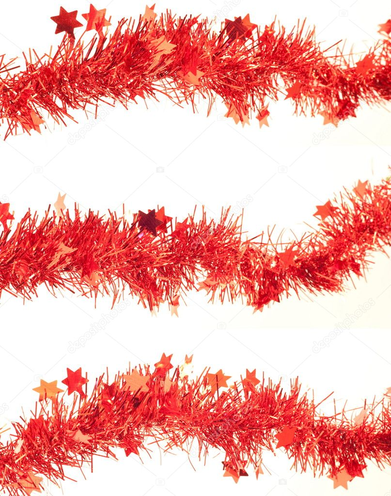 Happy holidays, red garlands over whithe background — Stock Photo #3581273