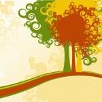 Autumn trees — Stock Vector