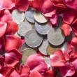 Stock Photo: Money and Roses