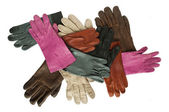 Colorful leather gloves — Stock Photo