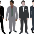 Royalty-Free Stock Vector Image: Men in costume