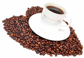 Cup of coffee with heart — Stock Photo