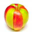 Stock Photo: Sliced of red and green apple