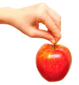 Juicy red apple — Stock Photo