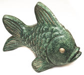 Sculpture ceramic fish — Stock Photo