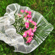 Wedding bouqet on grass — Stock Photo #3696718