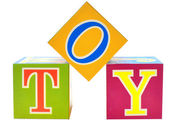 Word toy spelled out in toy blocks — Foto Stock