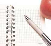 Open spiral bound notebook — Stock Photo