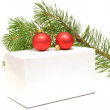 Royalty-Free Stock Photo: Festive balls with gift box