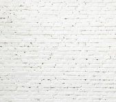 White brick wall texture — Stock Photo