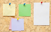 Color sticky notes — Stock Photo