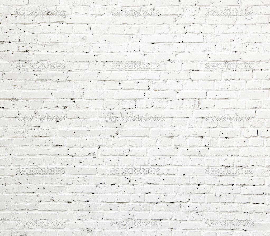 A white roughly textured brick wall painted with white paint  — Stock Photo #3841173
