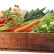 Crate of healthy vegetables — Stock Photo