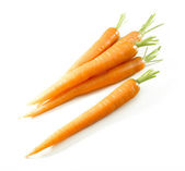 Carrots isolated on white — Stock Photo