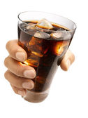Hand holding a cola — Stock Photo
