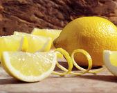 Lemon with zest — Stock Photo
