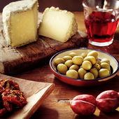 Italian food on the table — Stock Photo