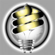 Royalty-Free Stock Photo: Energy saving light bulb illustration on silver background