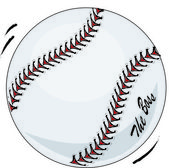 Brand new baseball illustration with movement and 'the boss' — 图库照片