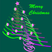 Funky christmas card in luminous colors illustration — Stock Photo