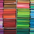 Rainbow of textiles — Stock Photo
