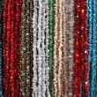 Stock Photo: Strings of natural irregular beads