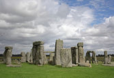 Stonehenge and clouds — Stock Photo