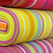 Stock Photo: Colorful fabrics with stripes pattern