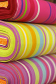 Colorful fabrics with stripes pattern — Stock Photo