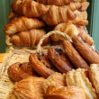 Stock Photo: Pastries and Croissants in bakery