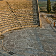 High angle view of a roman amphitheater, Kourion, Limassol, Cyprus - Stock Photo