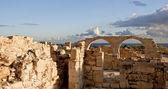 Ruins of Kourion overlooking Mediterranean. — Stock Photo