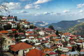 High angle view of a village on a mountain, Kakopetria, Cyprus — Stock Photo