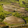 Stock Photo: Aerial view at farm fields